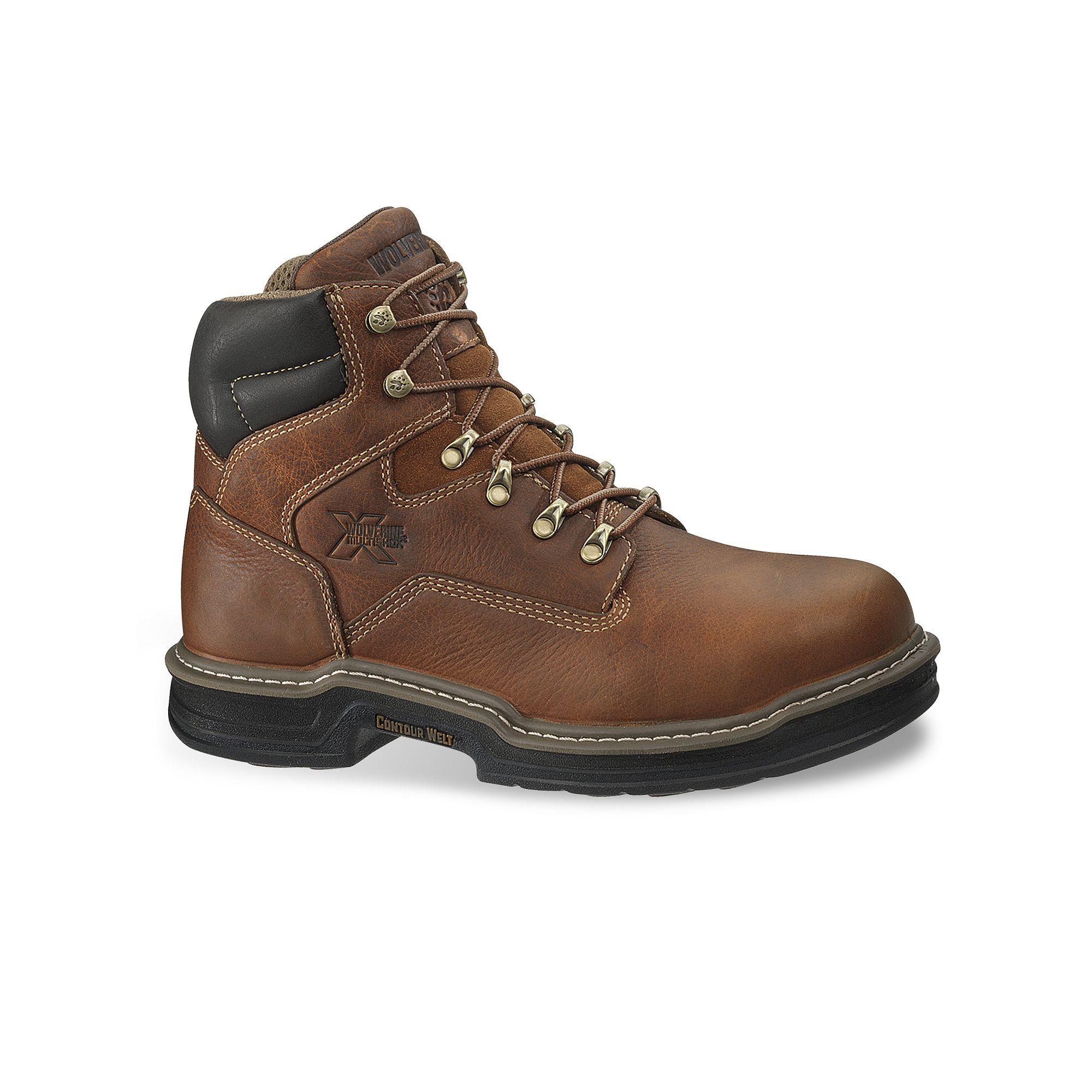 93a4eeef603 Wolverine Raider Men's Steel-Toe Work Boots, Size: Medium (9), Brown ...