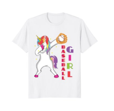 aff56dfc0bd Funny Unicorn Lover Baseball Girl Dabbing T-shirt Humor Gift