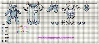 Baby Sampler (blue or pink)