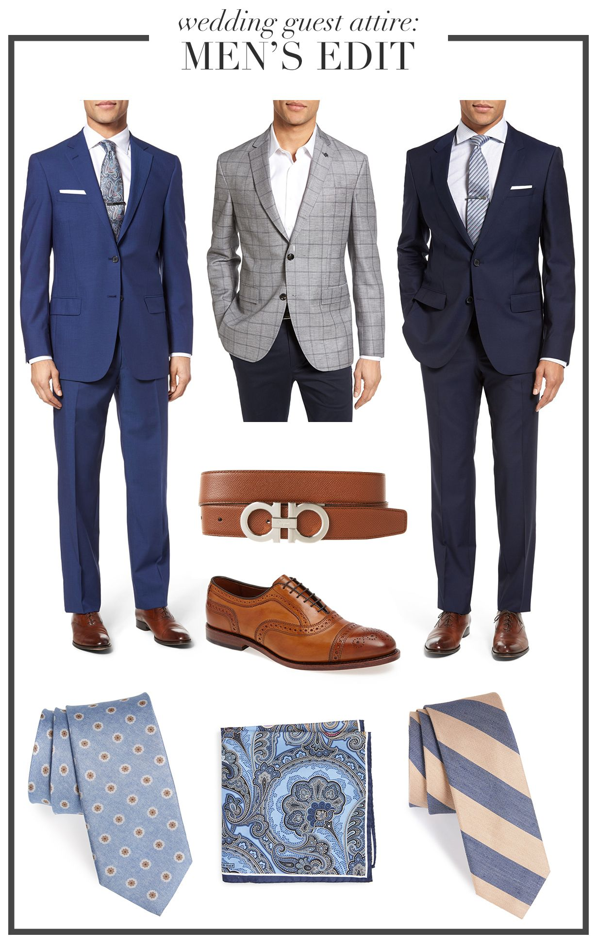 f3deb1463711d Wedding Wednesday: Men's Edit, What to wear to weddings, wedding attire  etiquette, men's wear