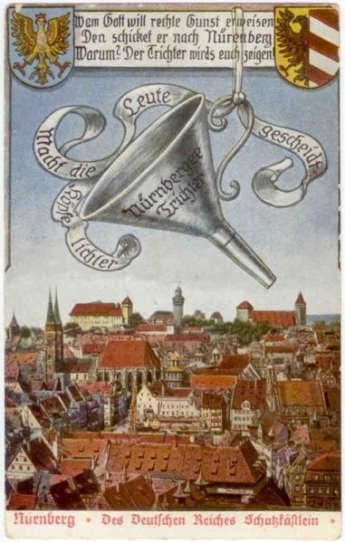 Datei Trichter Postkarte1 Jpg Nurnberg Altstadt Nurnberg Postkarten