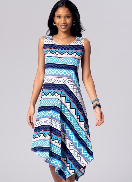 Kwik Sew knit dress sewing pattern K4173. Misses\' Diagonal-Seam ...