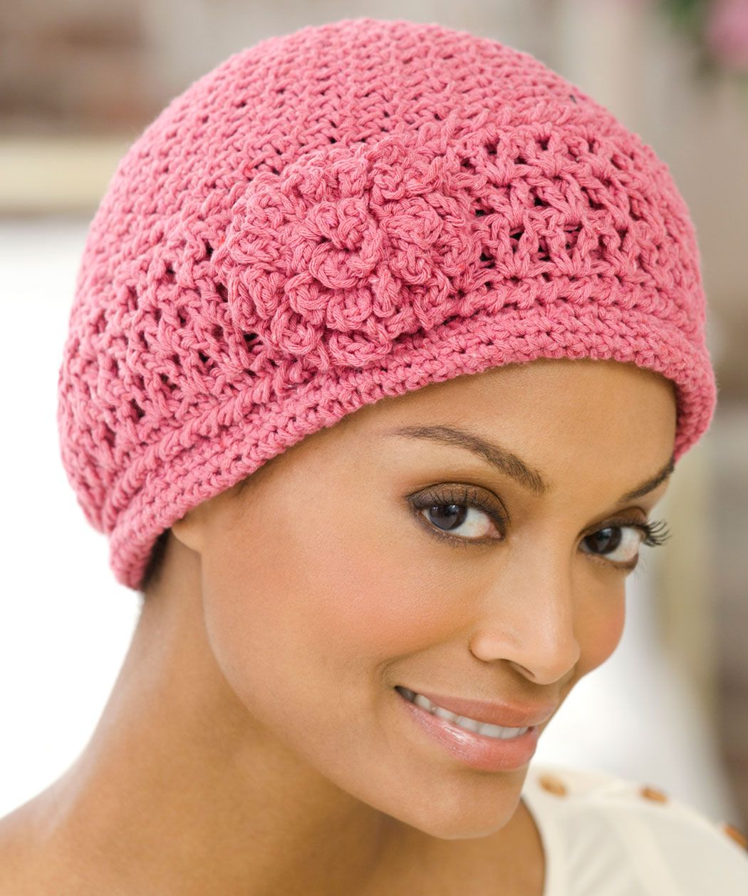 Red Heart® Chemo Cap  crochet  pattern  breastcancerawareness ... 2446e775042