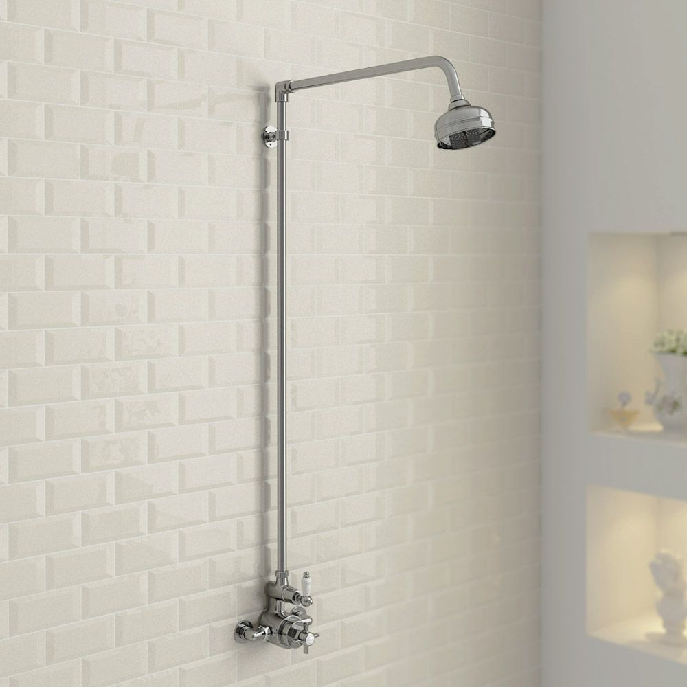 Ultra Traditional Exposed Thermostatic Shower Package with Twin ...