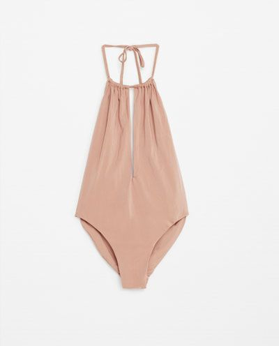 0699abef2c Image 6 of HALTER NECK SWIMSUIT from Zara