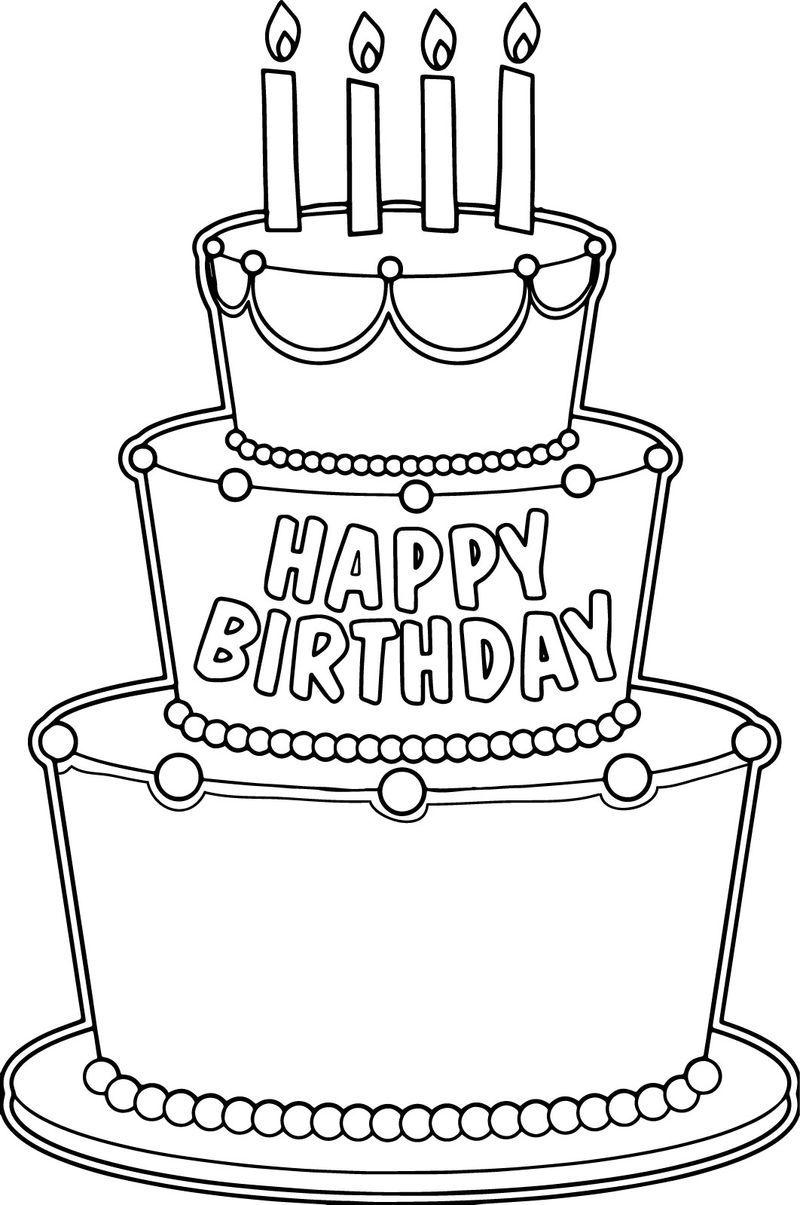 Big Birthday Cake Coloring Page Birthday Coloring Pages Big Birthday Cake Coloring Birthday Cards