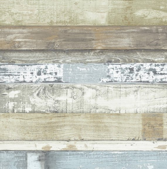 Weathered Shiplap Plank Wallpaper Rustic Distressed