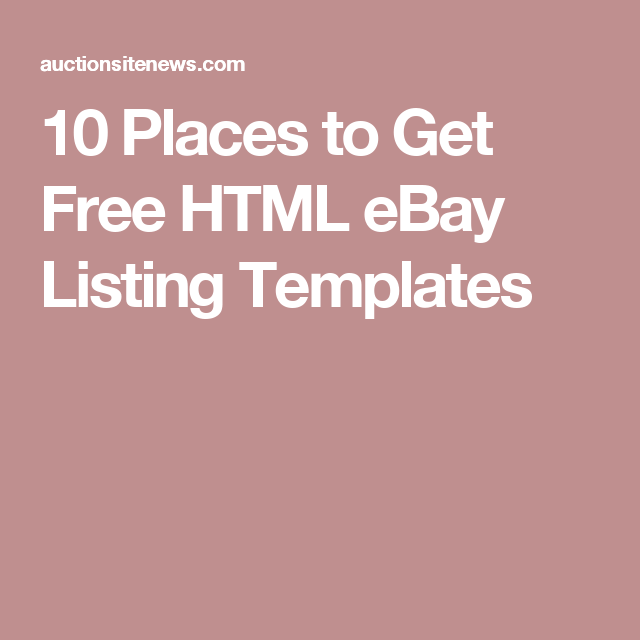 Places To Get Free HTML EBay Listing Templates EBay Pinterest - Html ebay listing template free