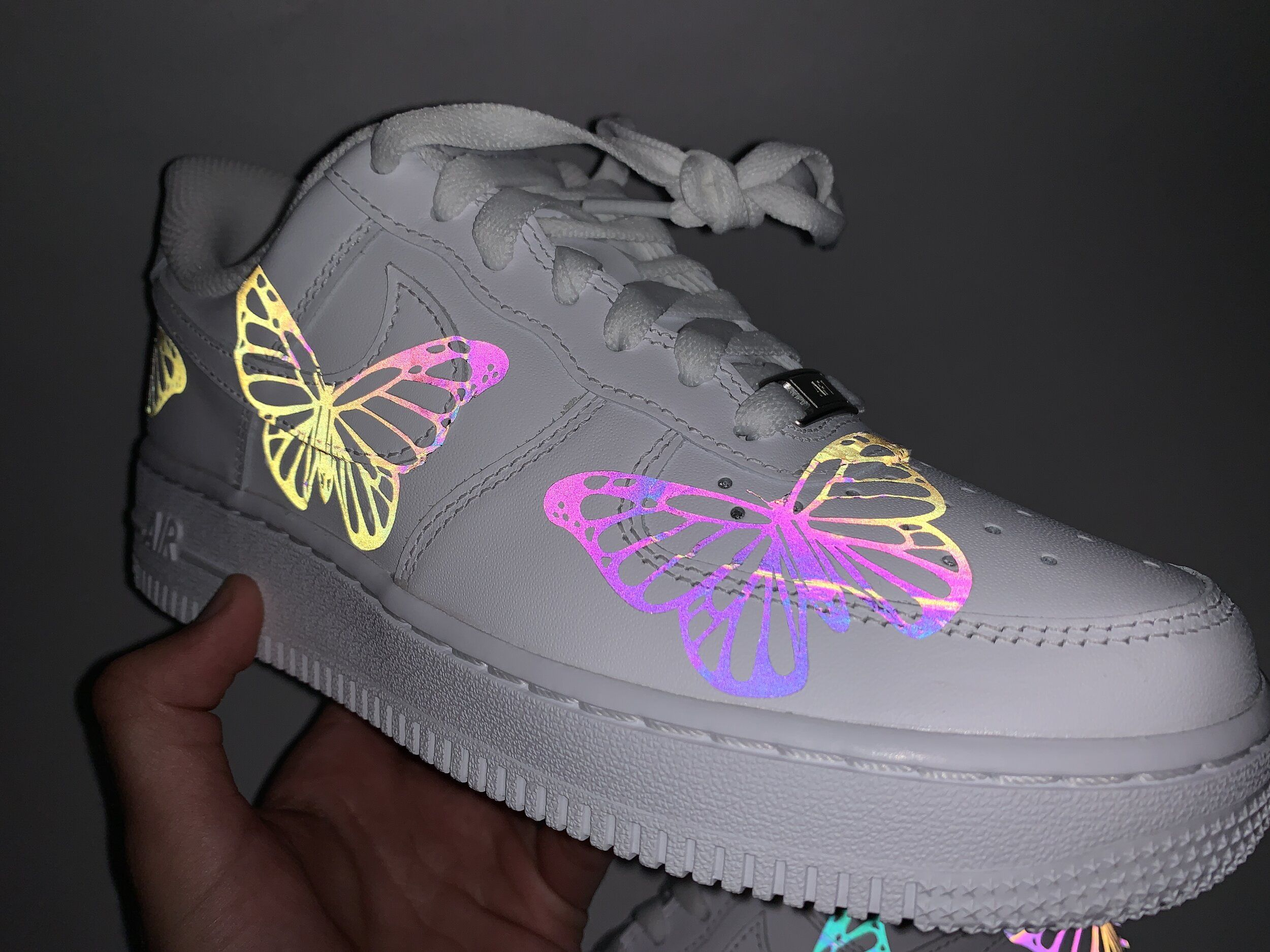 air force 1 low rainbow reflective