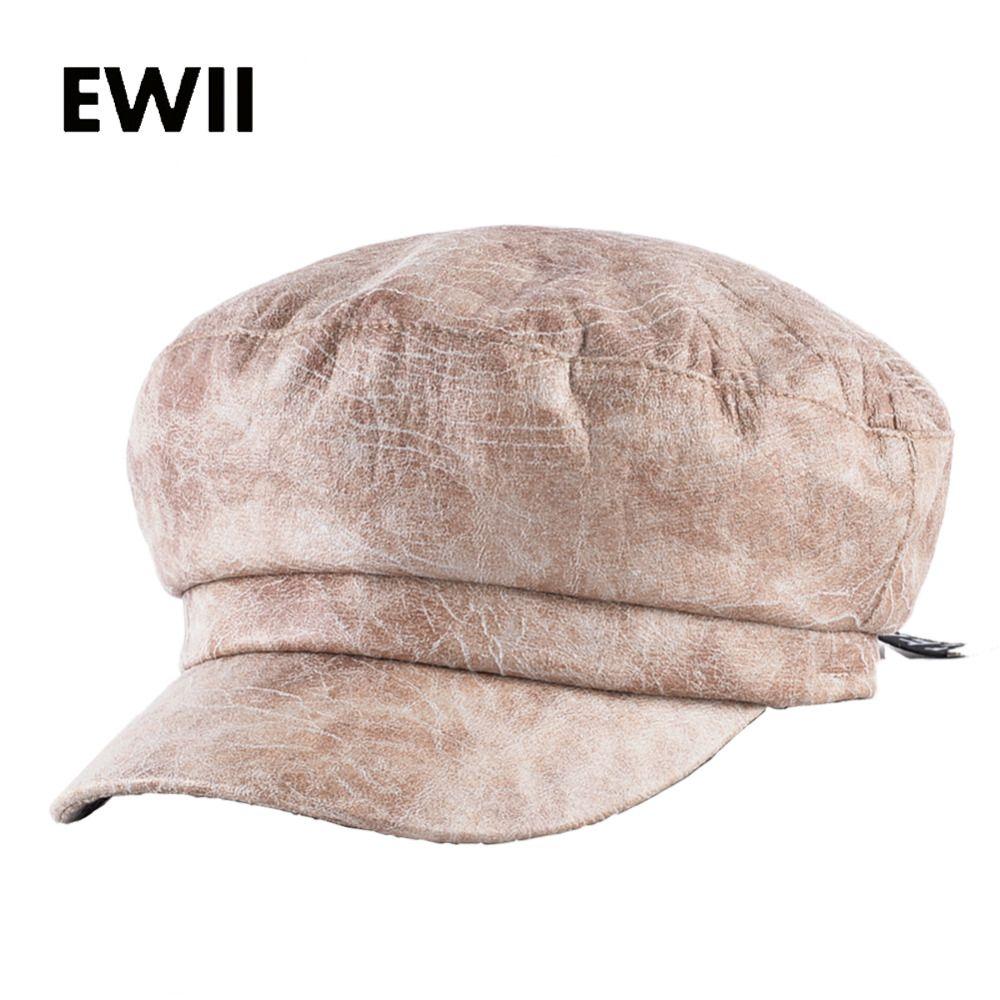 79421468cf6fa 2017 Autumn newsboy cap men winter flat hat for women octagon hats women  casual adjustable beret