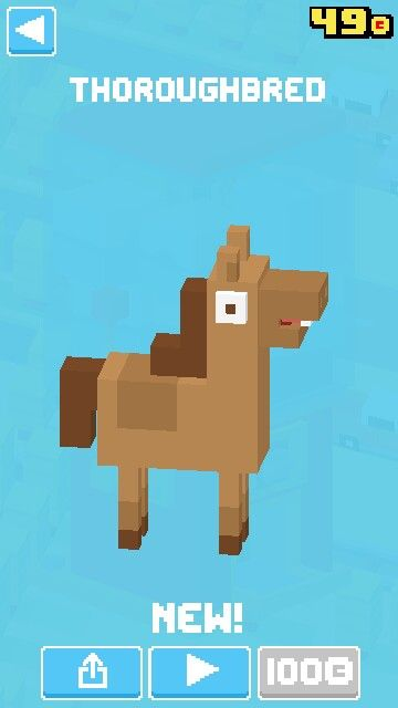 Horse from crossy road