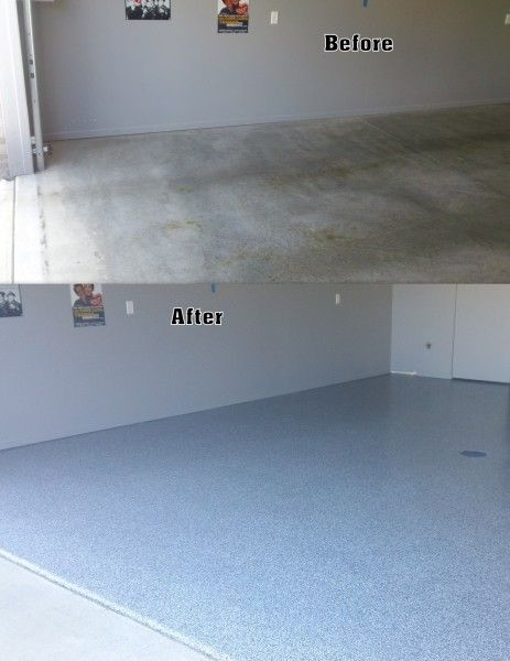 Garage Epoxy Chip Floor Before After Fort Wayne In Re Pin