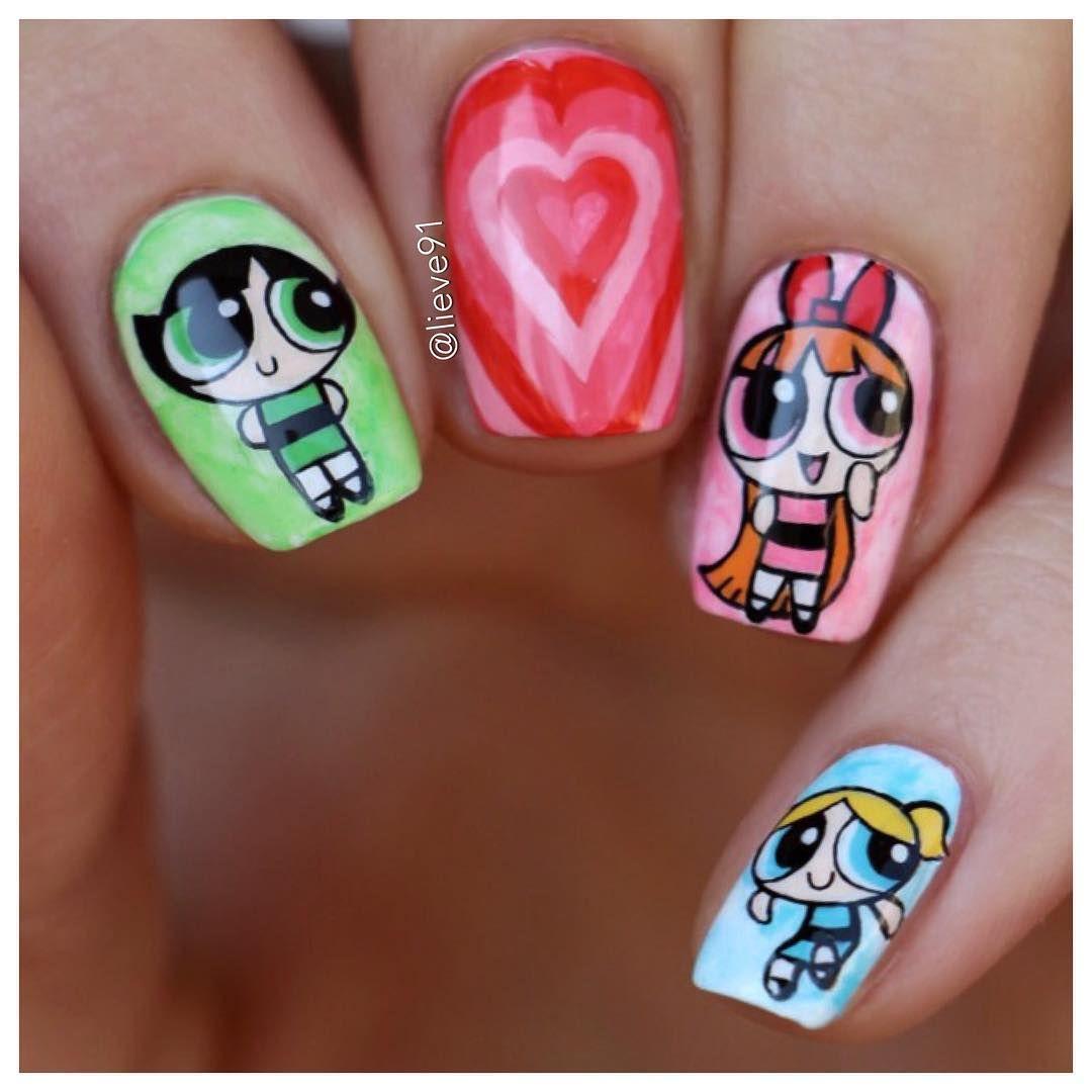 Powerpuff Girls Nailart Nails Pinterest Nail Art Nails And