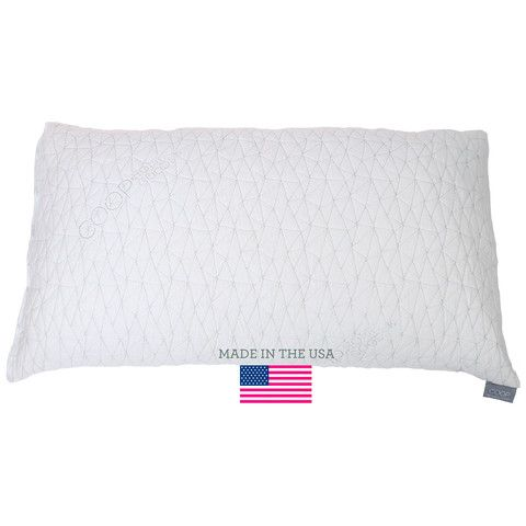 Adjustable Shredded Memory foam pillow with Bamboo Derived Viscose Rayon Cover