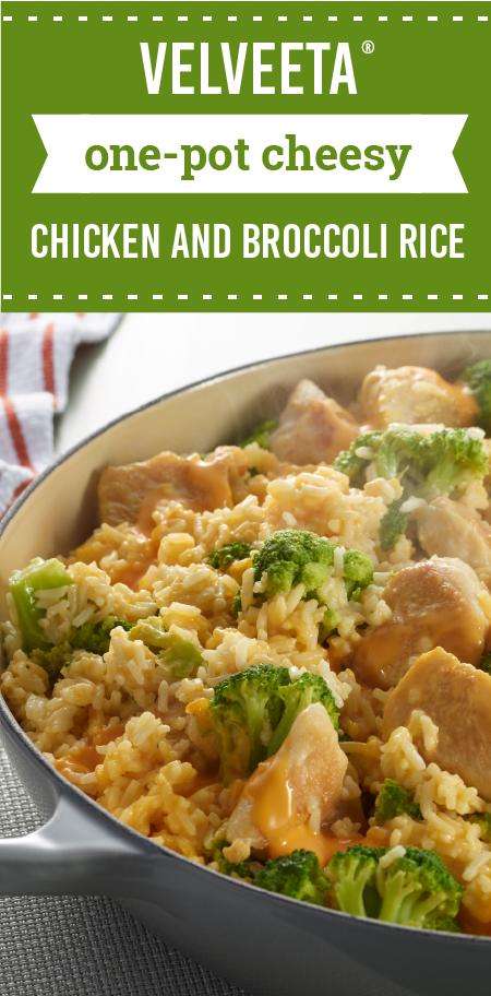 Velveeta One-Pot Cheesy Chicken And Broccoli Rice -5253