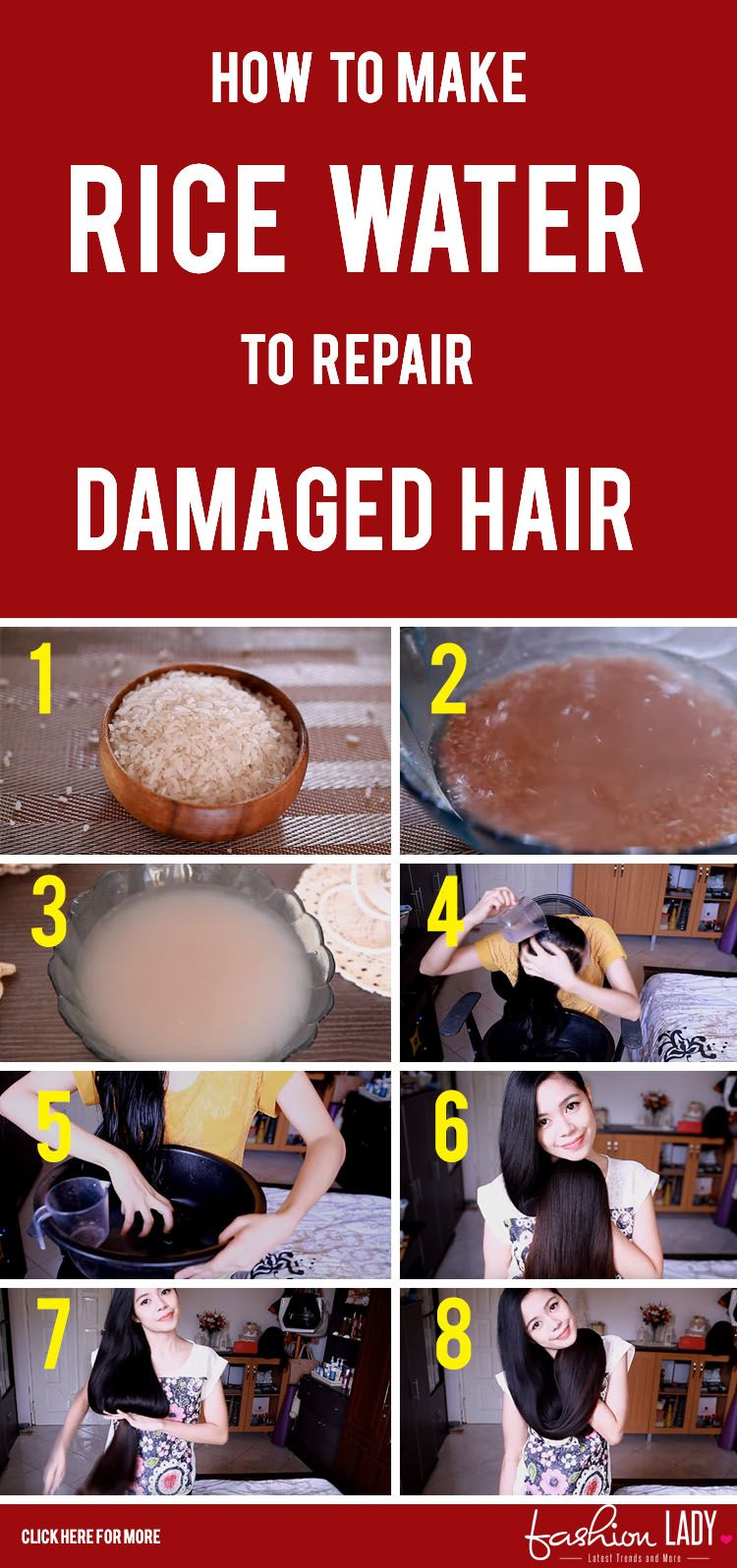 How To Make Rice Water To Repair Damaged Hair Damaged Hair Repair Damaged Hair Damaged Hair Repair Diy