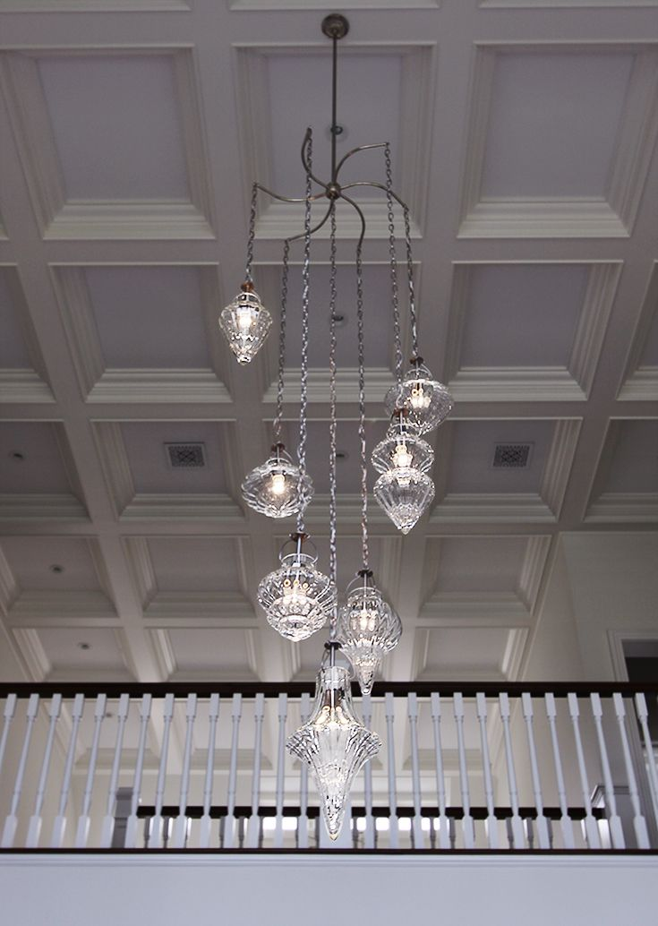 7 Light Cristallo Chandelier In Hamptons Residence Modern