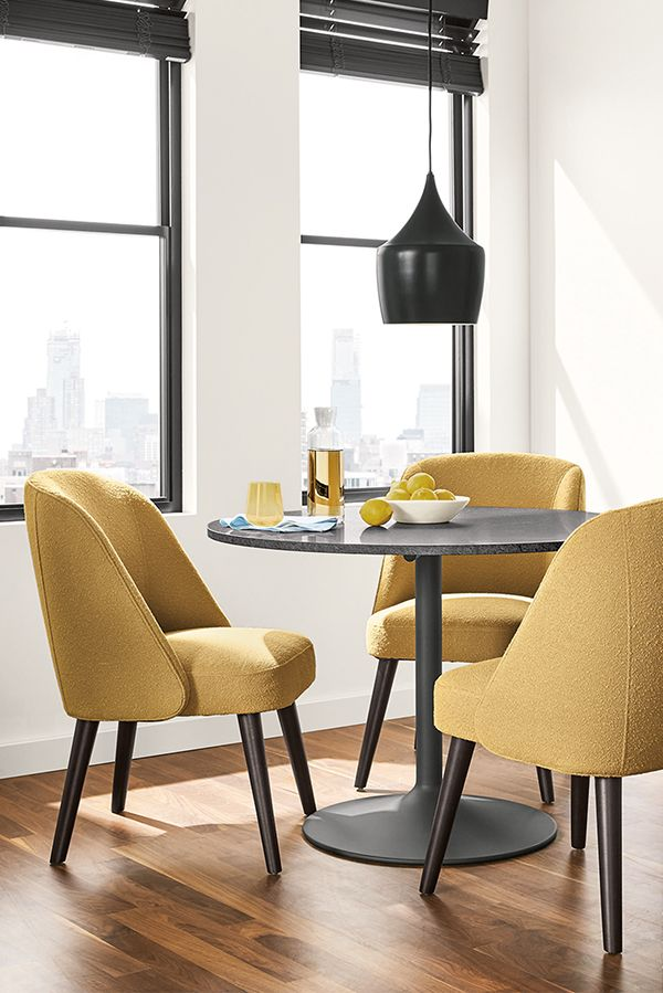Eat in space table shape and chairs; different light