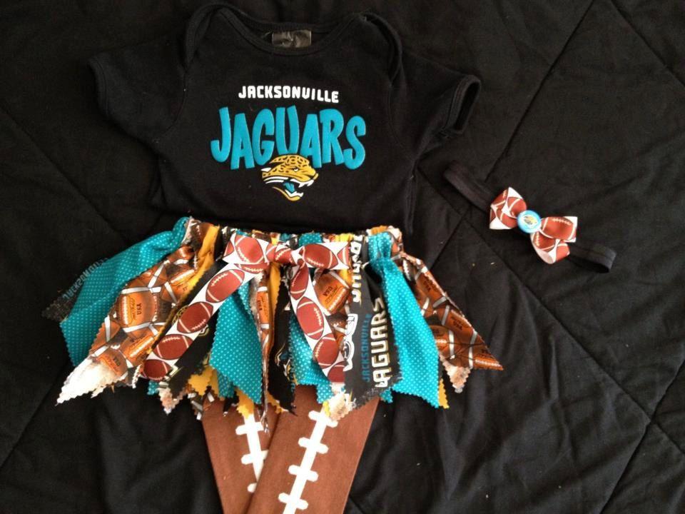 NFL fabric tutu Jacksonville Jaguars. 30.00, via Etsy
