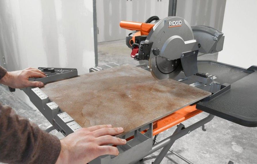 Ridgid 10 Inch Wet Tile Saw Review Pro Tool Reviews Tile Saw Home Improvement 3dprinting Design