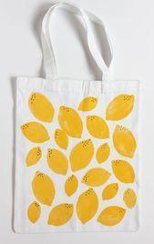 DIY Stamped Lemon Tote Bag - Alice and Lois  DIY Stamped Lemon Tote Bag    This ...,  #Alice ... #minionpattern