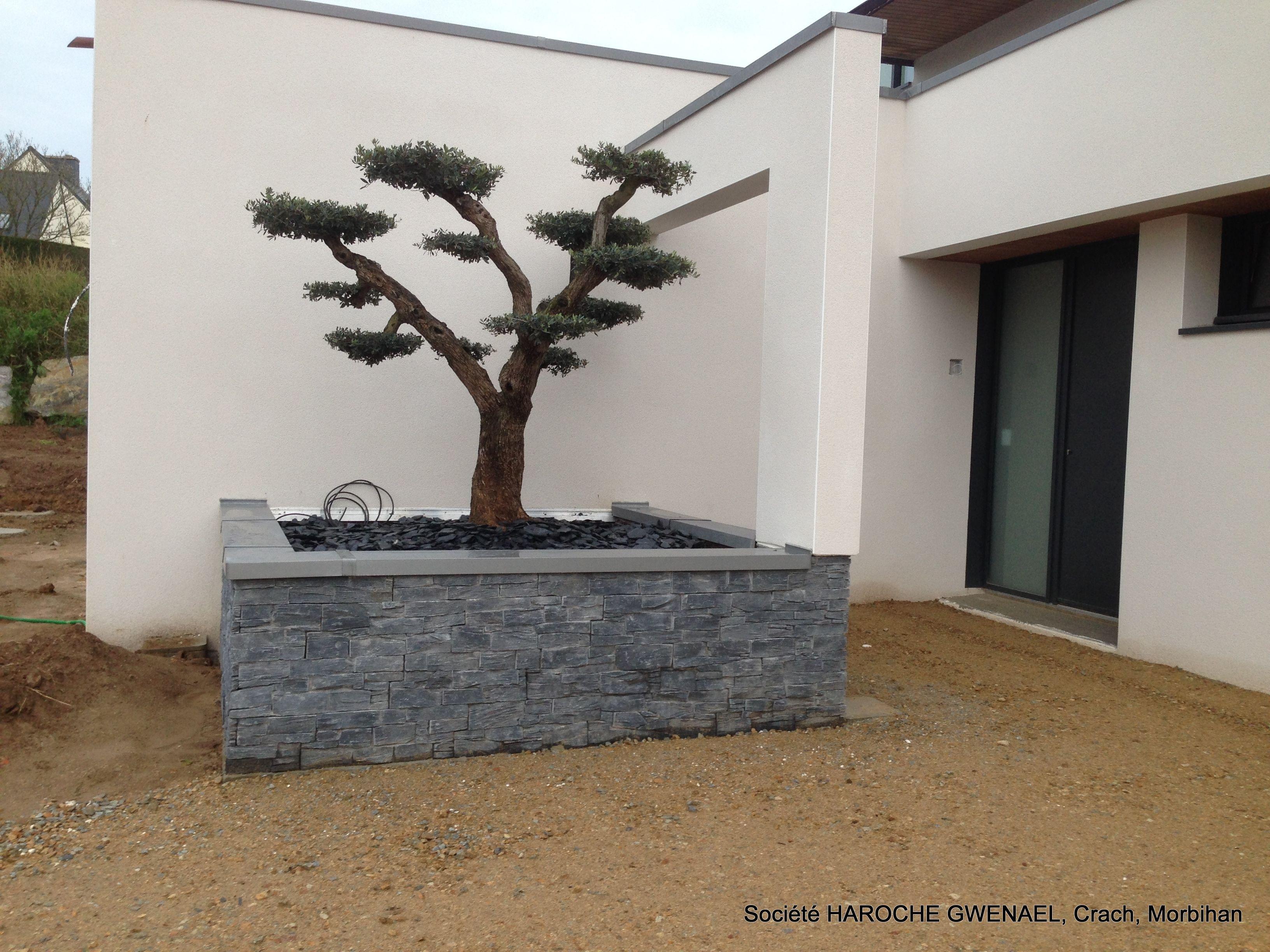 Jardini re ext rieur en stonepanel ardoise avec - Portillon de jardinidees pour votre exterieur ...