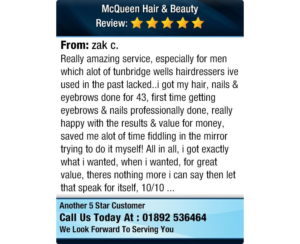 Really amazing service, especially for men which alot of