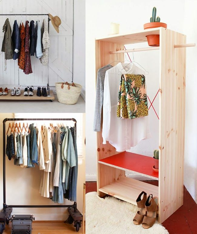 Creatively Curated: DIY MAKESHIFT CLOSET IDEA. Get A Shelf And Stick A Rod  In