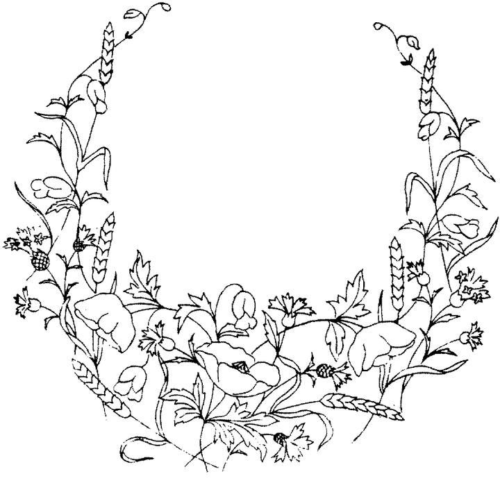 Flower Coloring Page Embroidery Flowers Pattern Flower Coloring Pages Flower Embroidery Designs