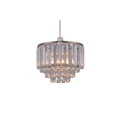 Belle crystal easy fit pendant light homebase