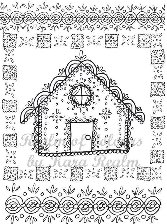 Aumalbild Malvorlage Zum Download Lebkuchenhaus Von