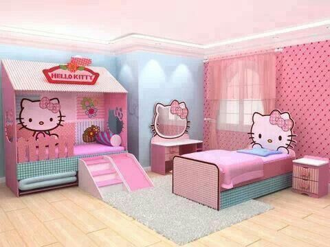 chambre pour fille hello kitty