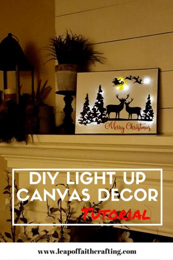 DIY Light Up Canvas Wall Decor | Cricut, Wall decor and Diy light