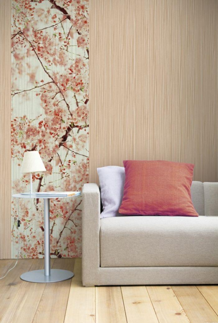 dekoideen diy ideen tapeten günstig einrichtungsideen Tapetenreste - farbe wohnzimmer ideen