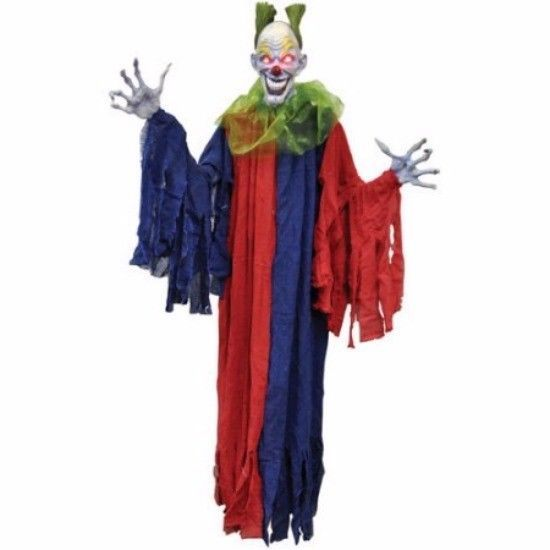 "Scary Halloween Clown Decorations 60"" Hanging Evil Halloween Clown Halloween…"