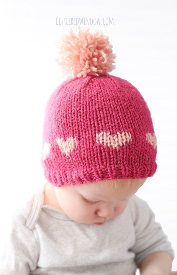Little Valentine Fair Isle Heart Hat Knitting Pattern Valentines
