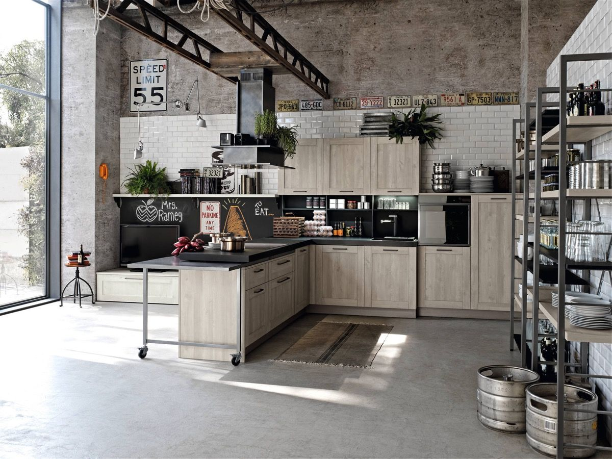 Industrial Kitchen Designs Applied With Fashionable Decor