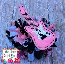 Electric Guitar Oversized Feltie   What's New   Machine Embroidery Designs   SWAKembroidery.com The Little Stitch Shop