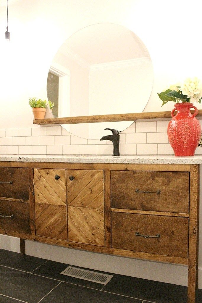 Photo of You're So Vain…You Probably Think This Post is About You–My DIY Bathroom Vanity