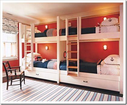 Cuatro Camas En Un Dormitorio Dormitorio Para 4 By Dormitorios Blogspot Com Dormitorios Diseno De Dormitorio Para Hombres Camas