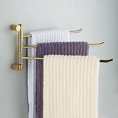 Håndklædestang Ti-PVD Vægmonteret 40.2*3.5*20cm(15.8*1.4*7.9inch) Messing Moderne - DKK kr. 543