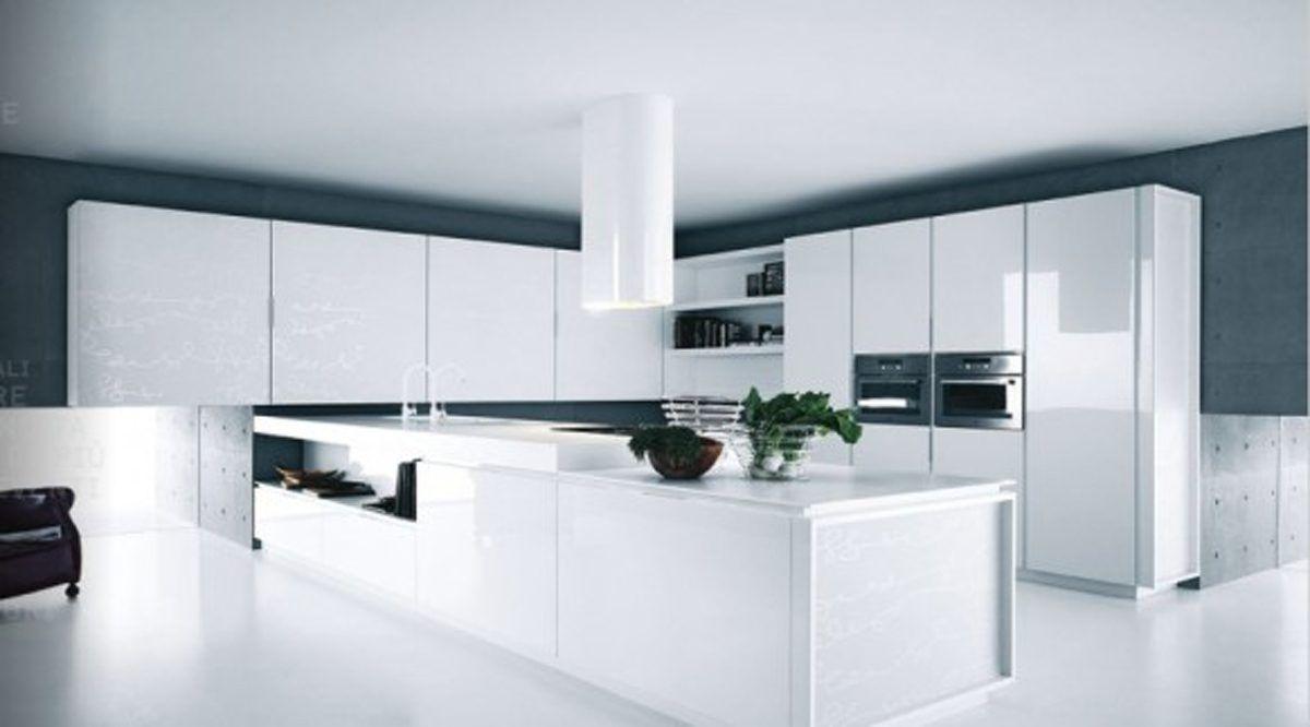 Cocinas Elegantes Y Modernas | Ejemplos De Cocinas Elegantes Modernas Y Minimalistas Blanco