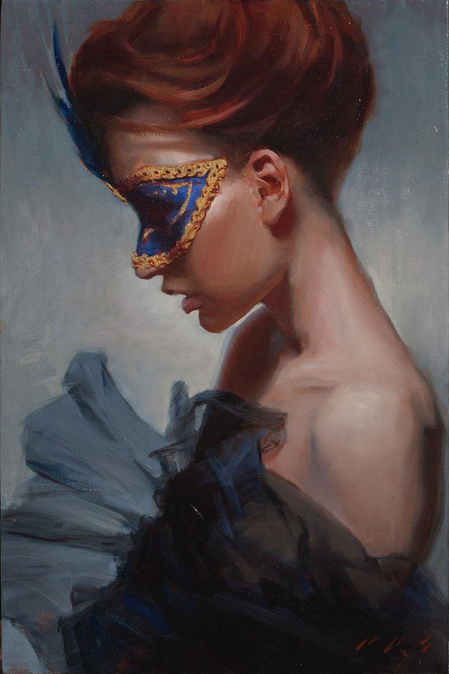 Pastel portrait redhead