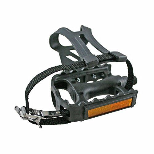 Evo Pedals With Toe Clips Atb Resin Wtc Straps Black Continue To The Product At The Image Link Bicycle Pedals Mountain Bicycle Bicycle
