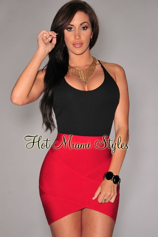 fa7ee1c222c6 Red Bandage Arched Mini Skirt in 2019 | Products | Mini skirts ...