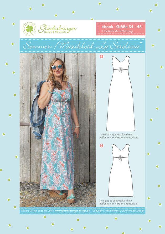 Schnittmuster Sommer-/Maxikleid Damen | Pinterest | Sommer ...