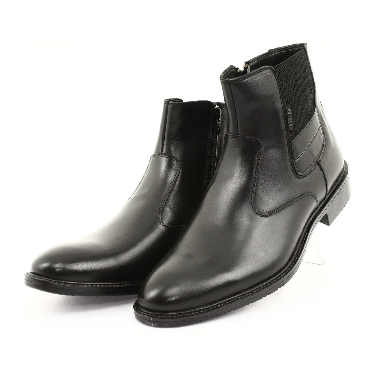Elastic Sides Men S Badura Jodhpur Boots Badura 4797 Black Elegant Boots Jodhpur Boots Boots
