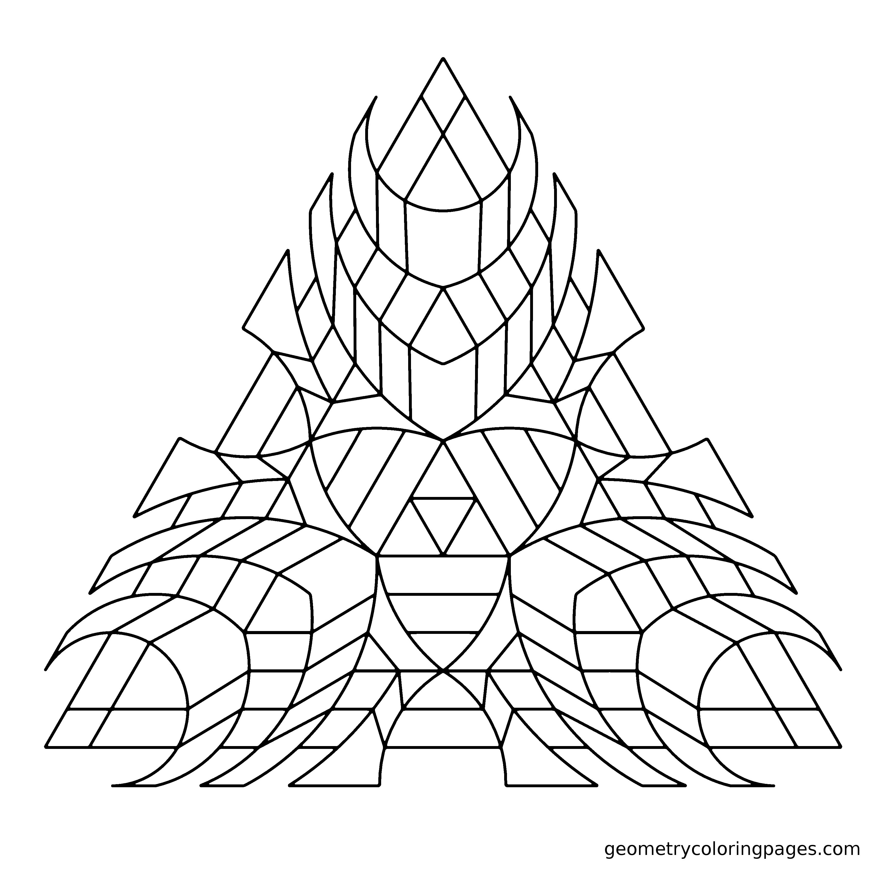 Geometry Coloring Page from geometrycoloringpages.com | Adult ...