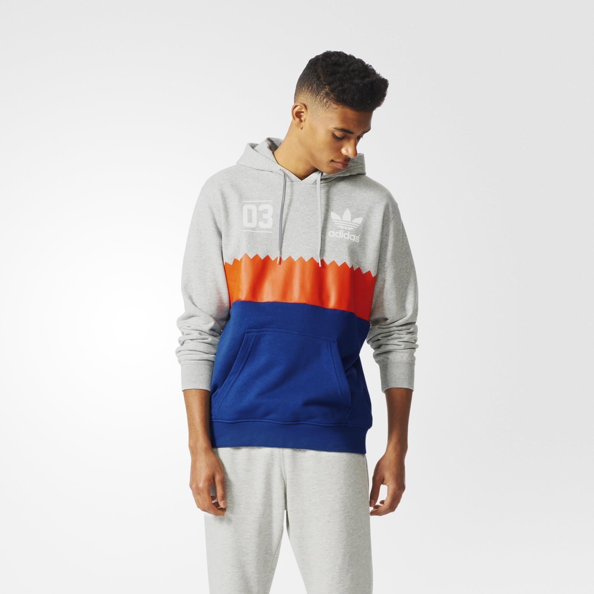 adidas Serrated Graphic Hoodie - Grey   adidas UK