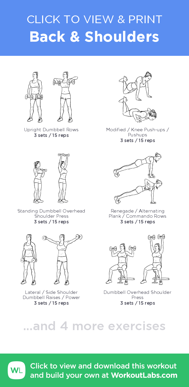 Back & Shoulders – click to view and print this illustrated exercise ...